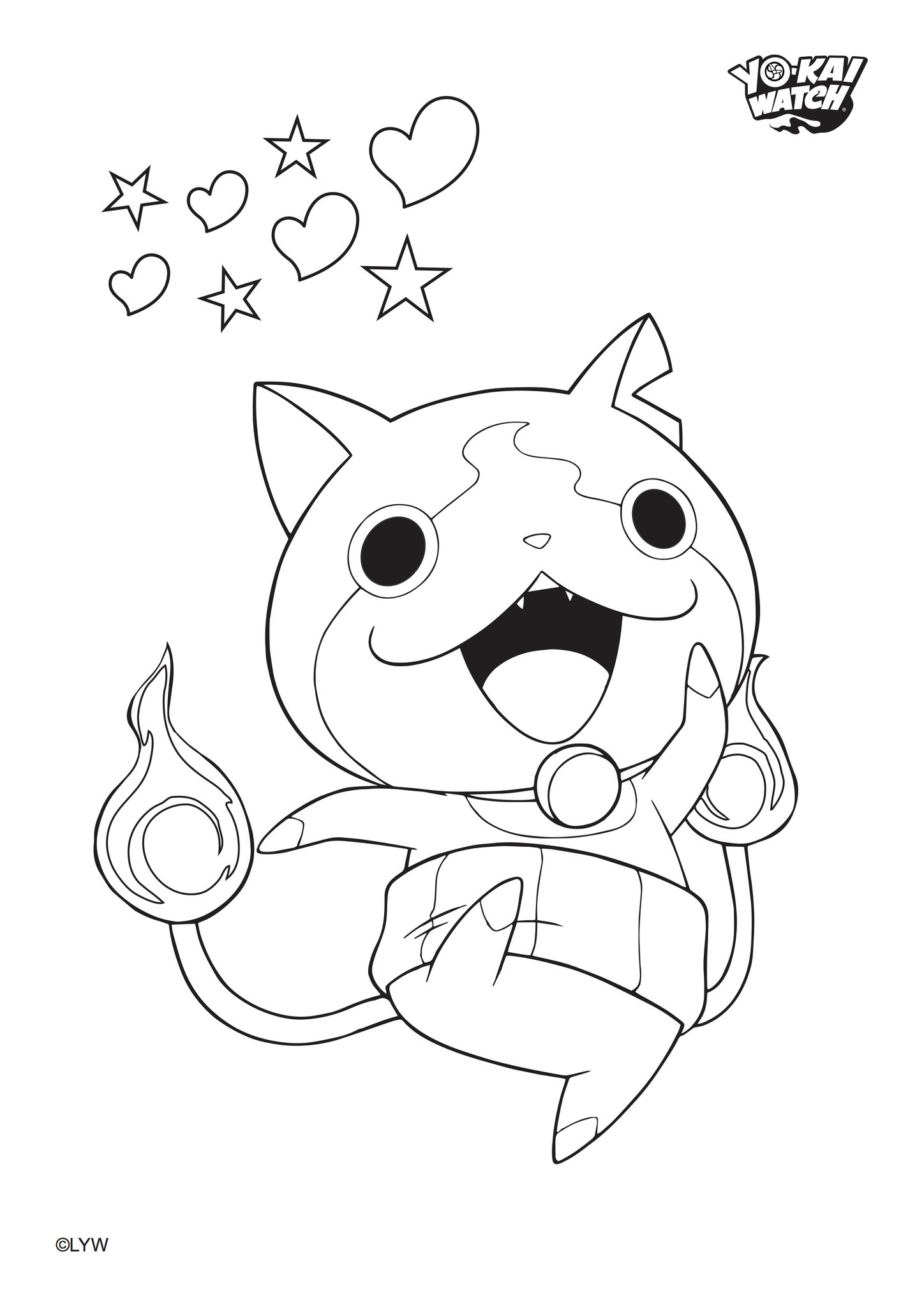 Yo Kai Watch Coloring Pages Gallery | Free Coloring Sheets