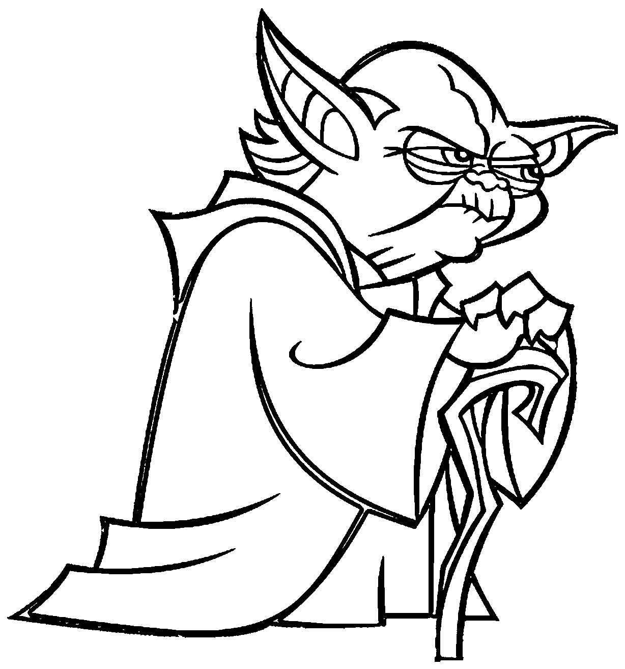 Yoda From Star Wars Free Coloring Page Kids Movies Arresting Pages Collection Of New Coloring Pages Star Wars Printable