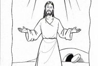 Coloring Pages Of Jesus Christ Resurrection - 28 Collection Of Resurrection Jesus Drawing Gallery