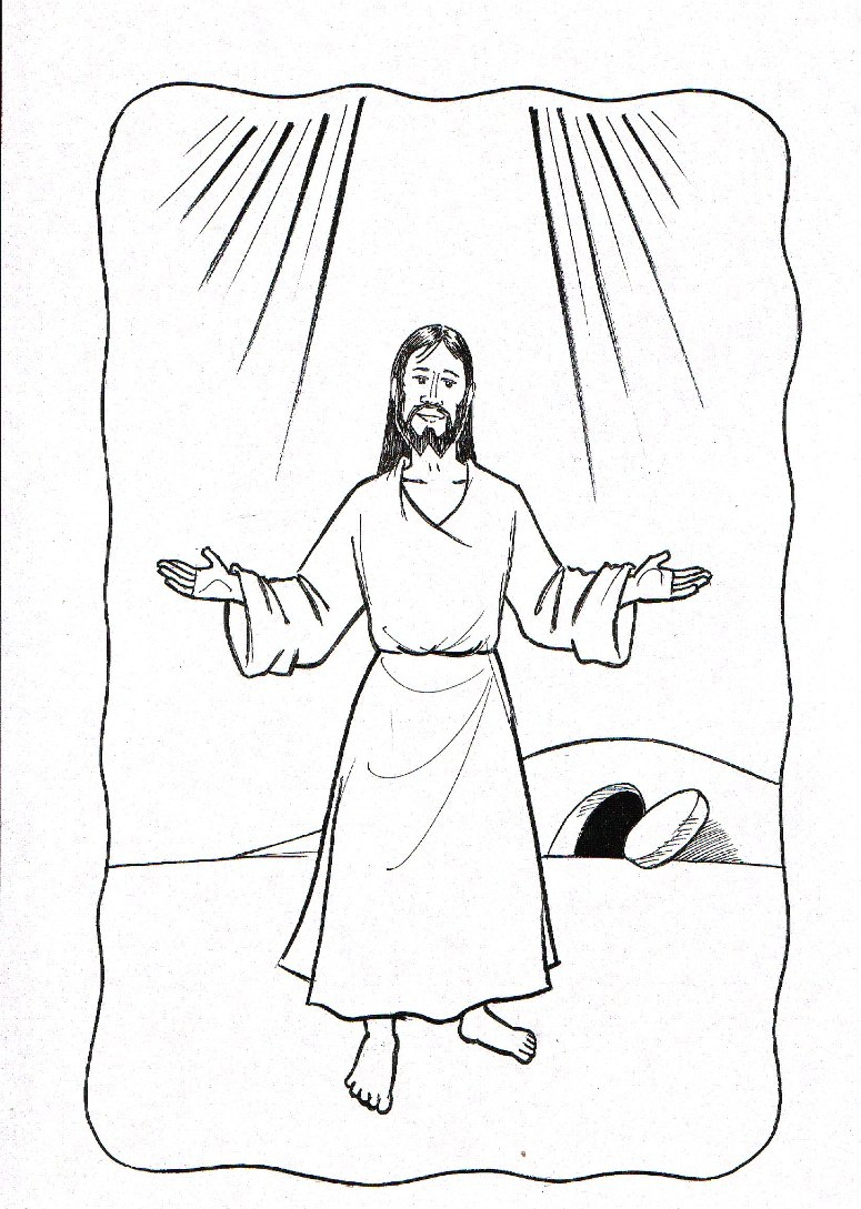 Coloring Pages Of Jesus Christ Resurrection