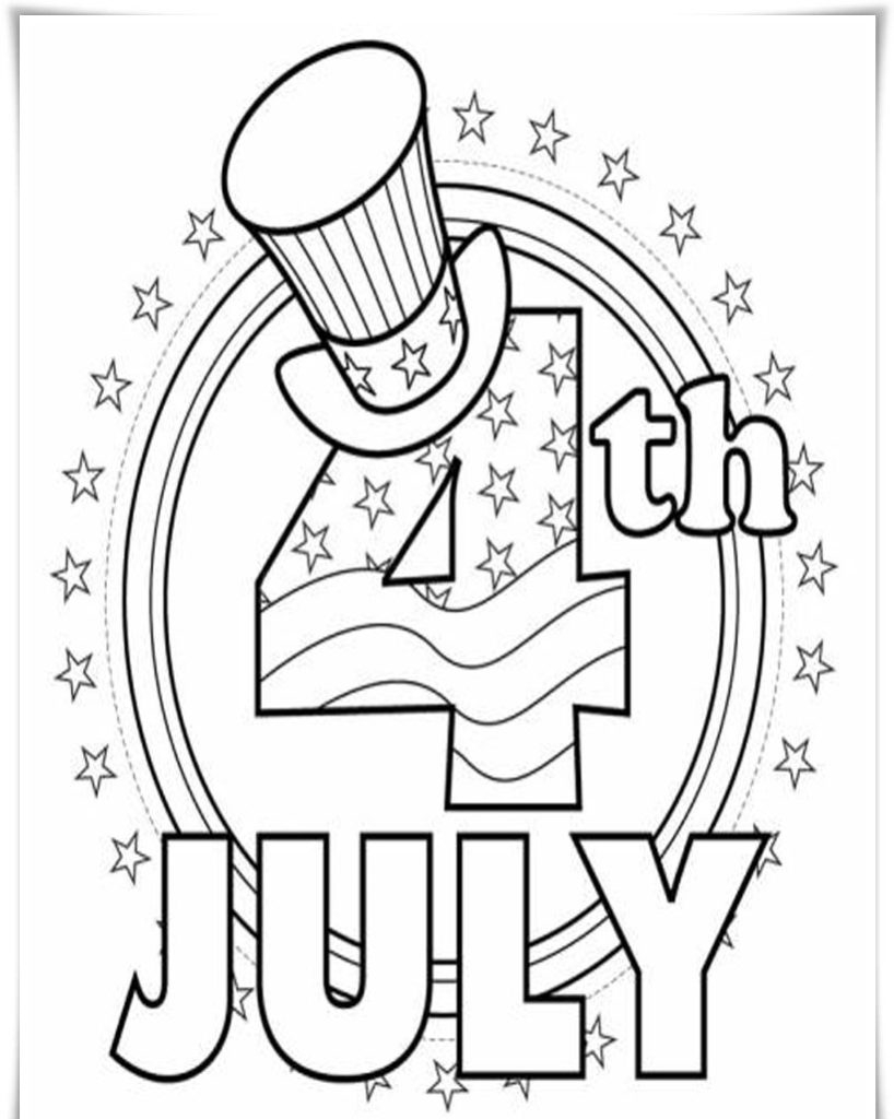 Coloring Pages 4th Of July Printable Printable 11h - Free For Children