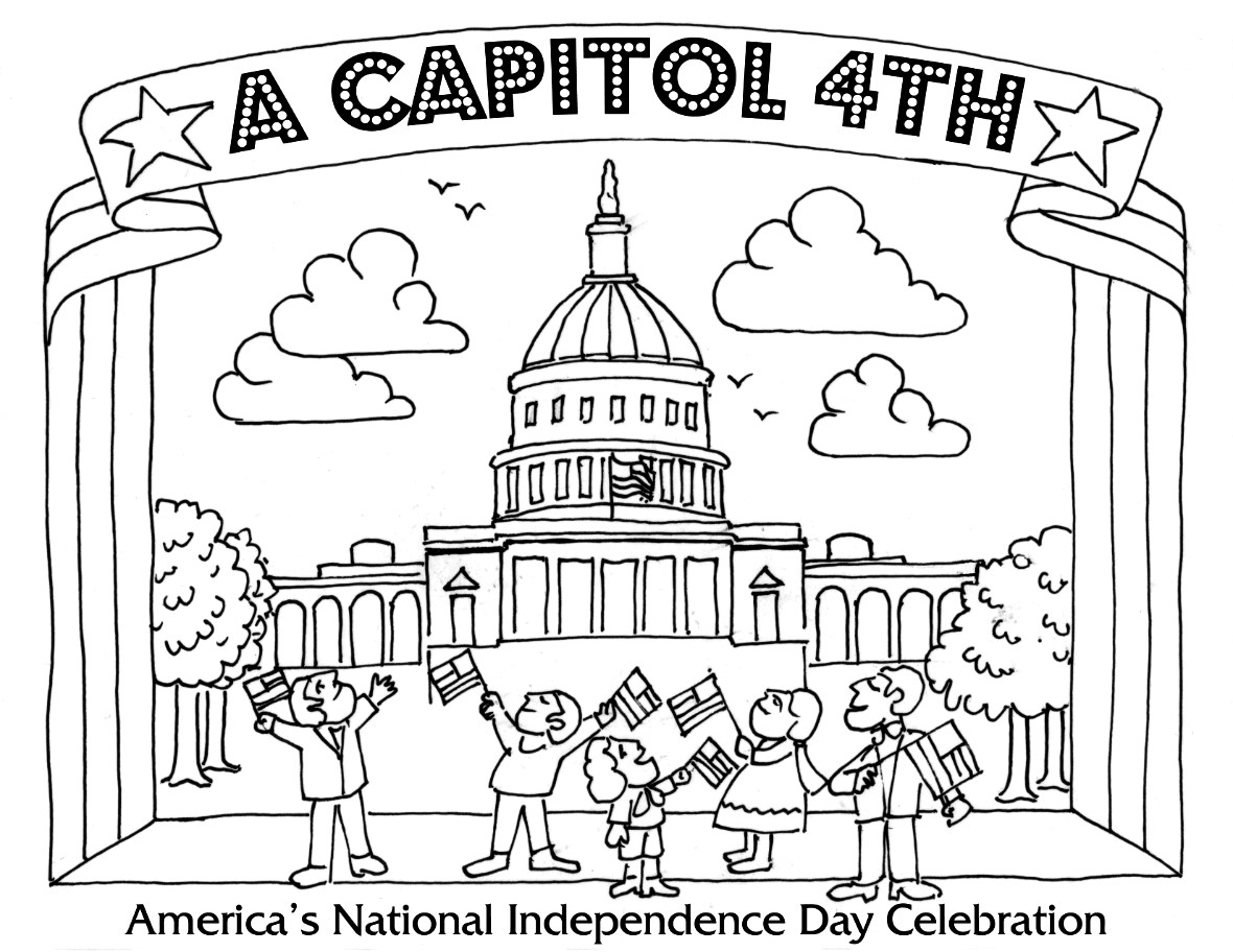 Free Printable 4th July Coloring Pages Independence Day Coloring ...