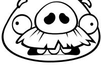 Angry Bird Pigs Coloring Pages - Angry Birds Coloring Pages Old Pig Free Printable Coloring Pages Collection