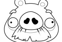 Angry Bird Pigs Coloring Pages - Angry Birds – foreman Pig 01 Coloring Page Download