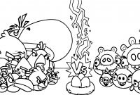 Angry Bird Pigs Coloring Pages - Angry Birds Vs Bad Piggies Coloring Page Printable