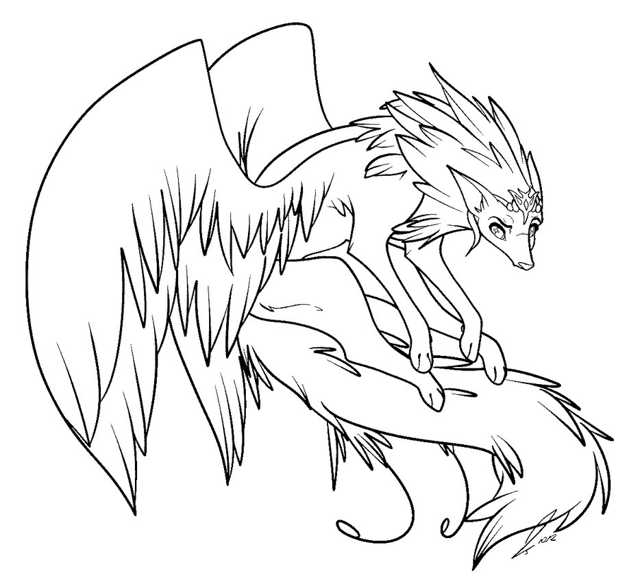 Coloring Pages Of Anime Wolves to Print | Free Coloring Sheets