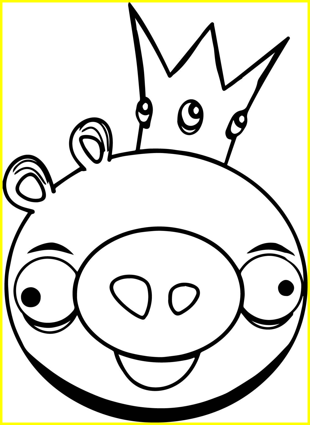 Angry Bird Pigs Coloring Pages Printable | Free Coloring Sheets