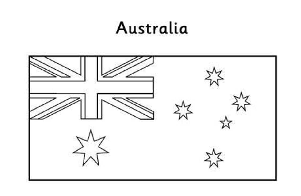 Australian Flag To Color New Popular Print Out Australia Flags Gallery