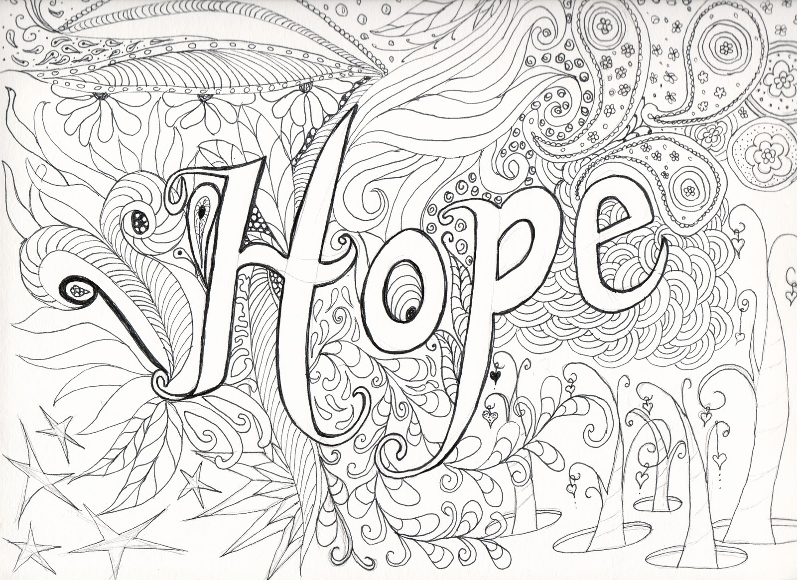 Awesome Hard Flower Coloring Pages For Teenagers Design To Print