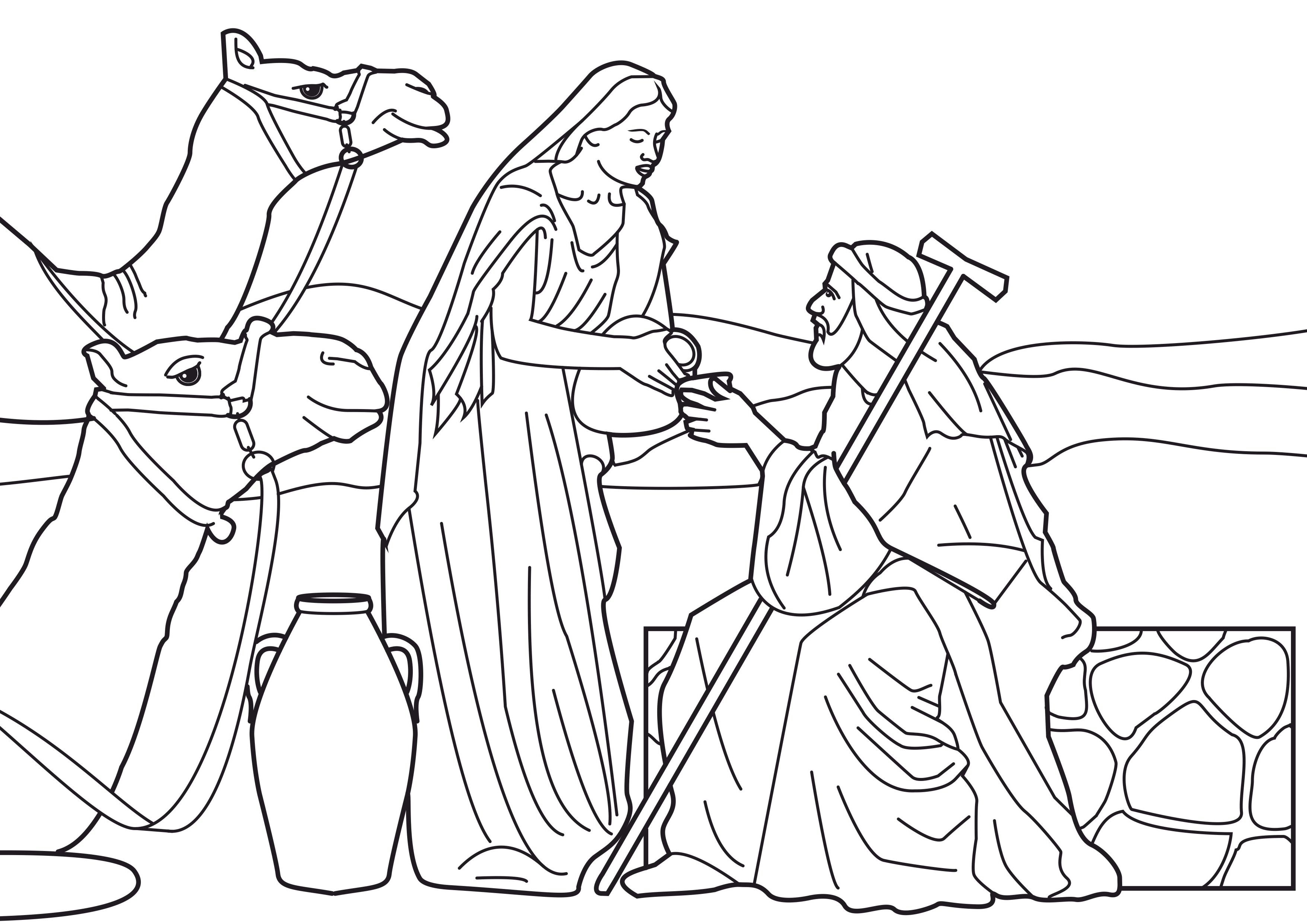 Praise and Worship Coloring Pages - Awesome isaac and Rebekah Coloring Pages Design Collection