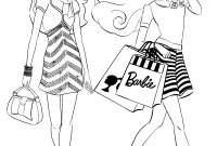 Shopping Coloring Pages - Barbie Coloring Pages Coloringsuite Download