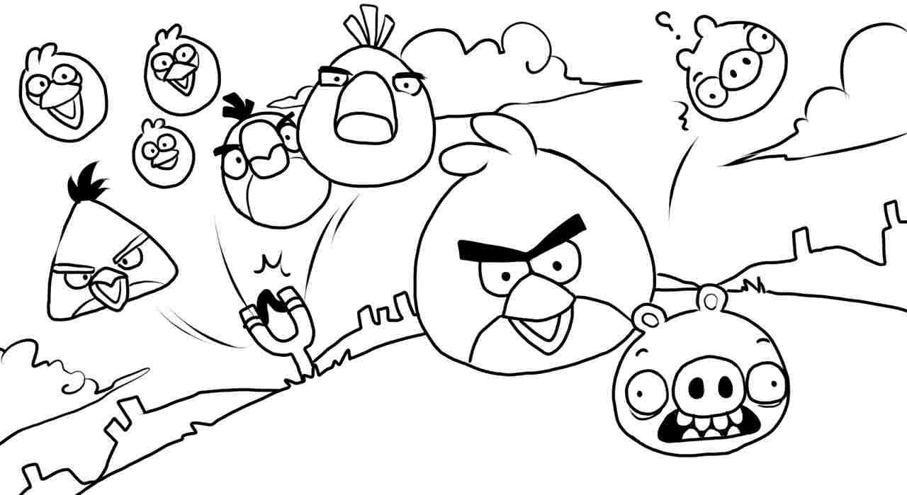 Angry Bird Pigs Coloring Pages Printable 17l - Free Download