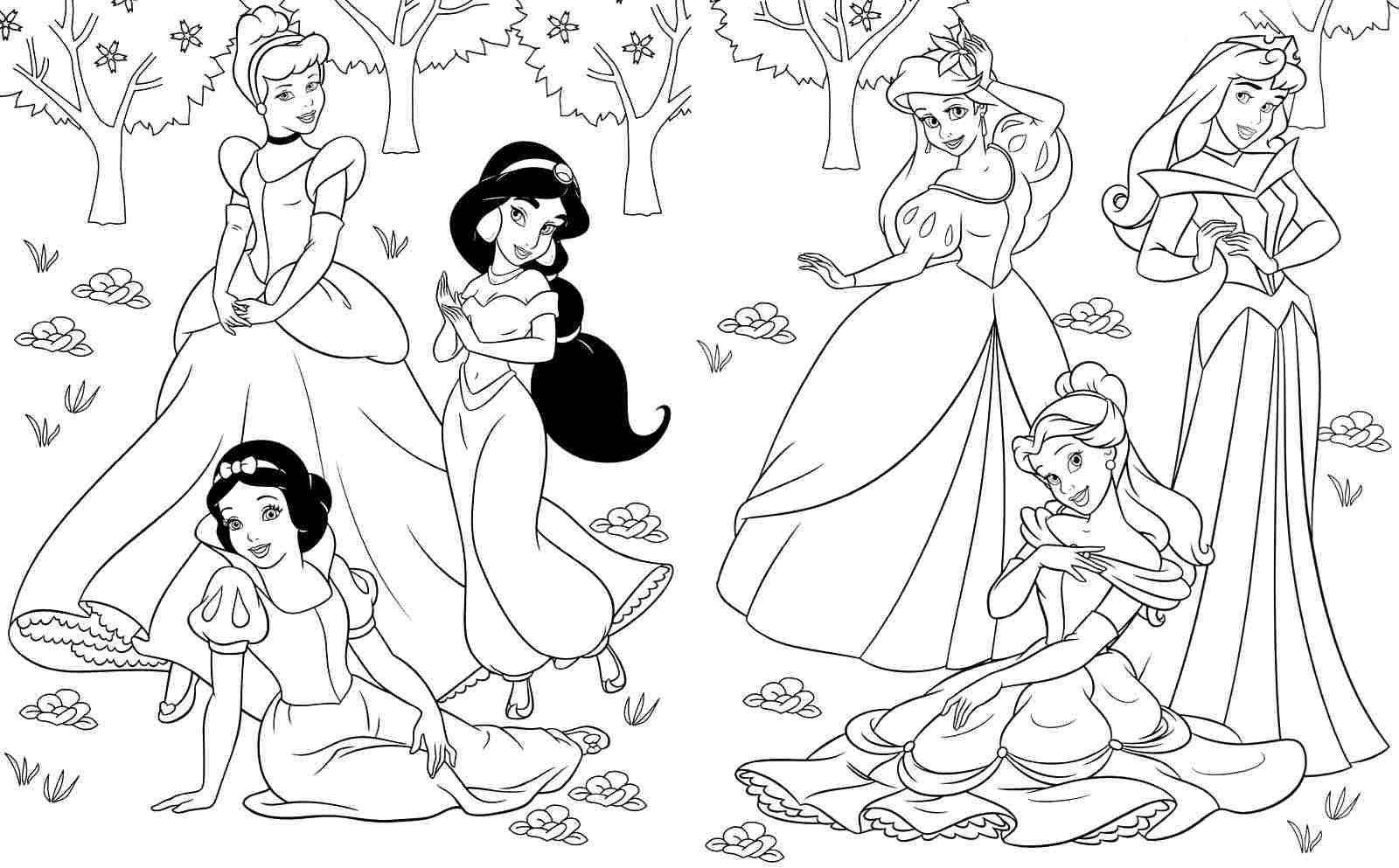 Best Disney Princess Coloring Pages Free 376 Printable Coloringace To Print  Of Disney Coloring Pages Disney