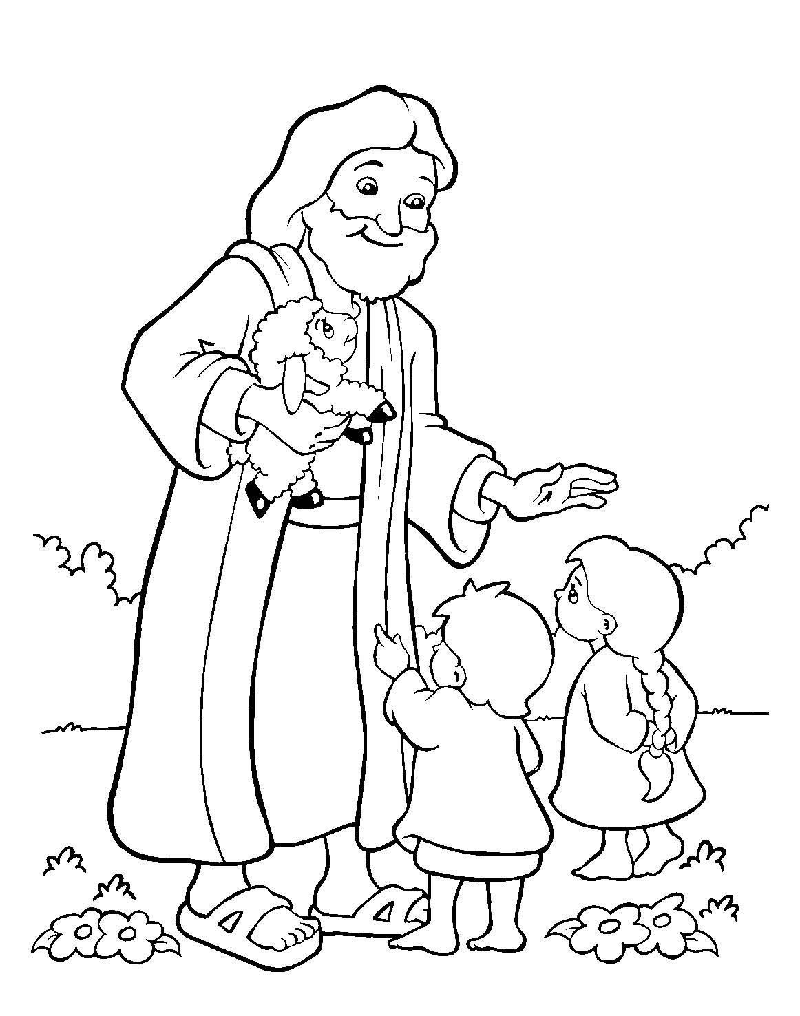 Coloring Pages for Sunday School Lessons Printable 2b - Free For Children