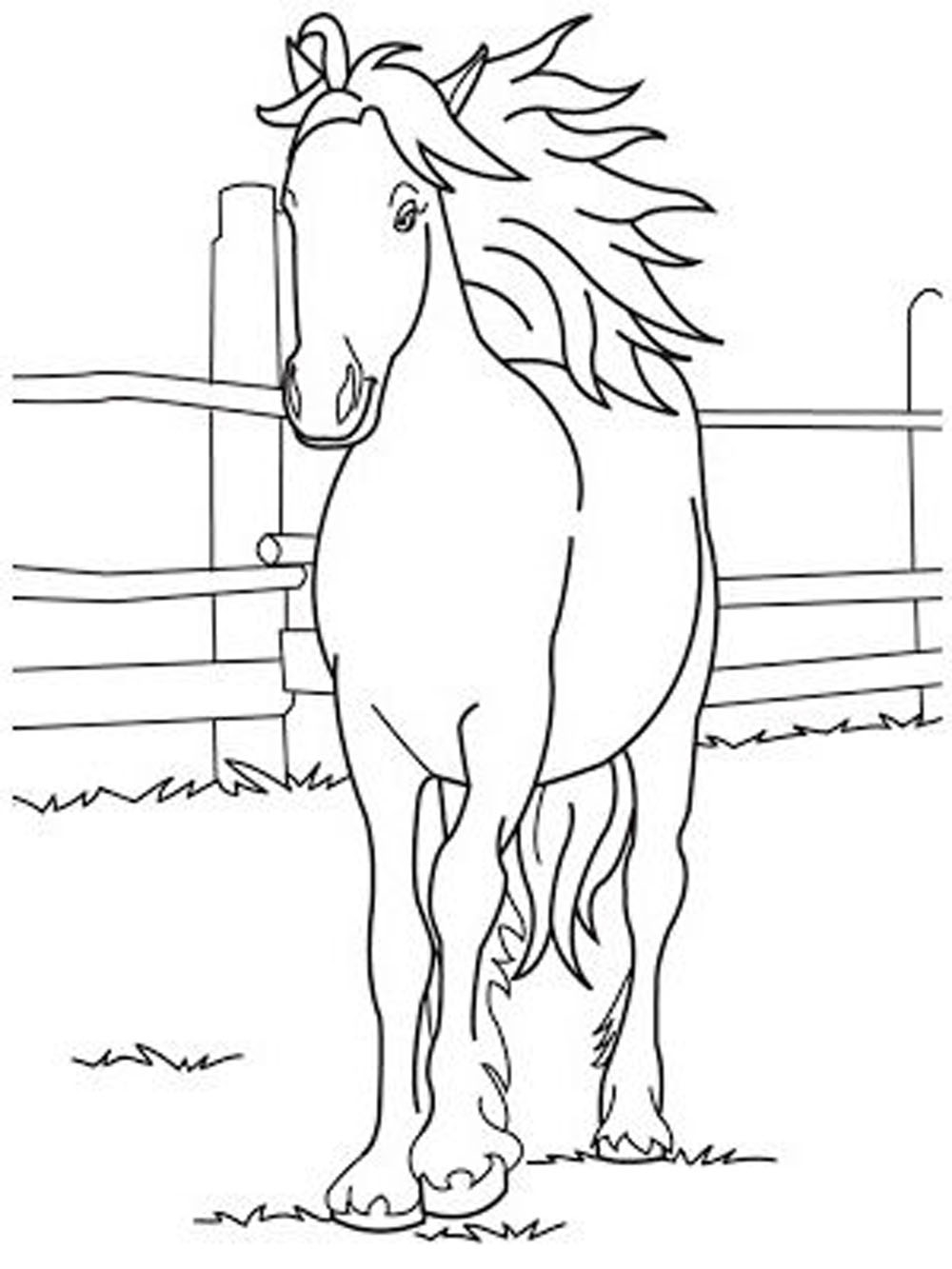 Breakthrough Race Horse Coloring Pages To Print Fun For Your Kids Gallery Of Racing