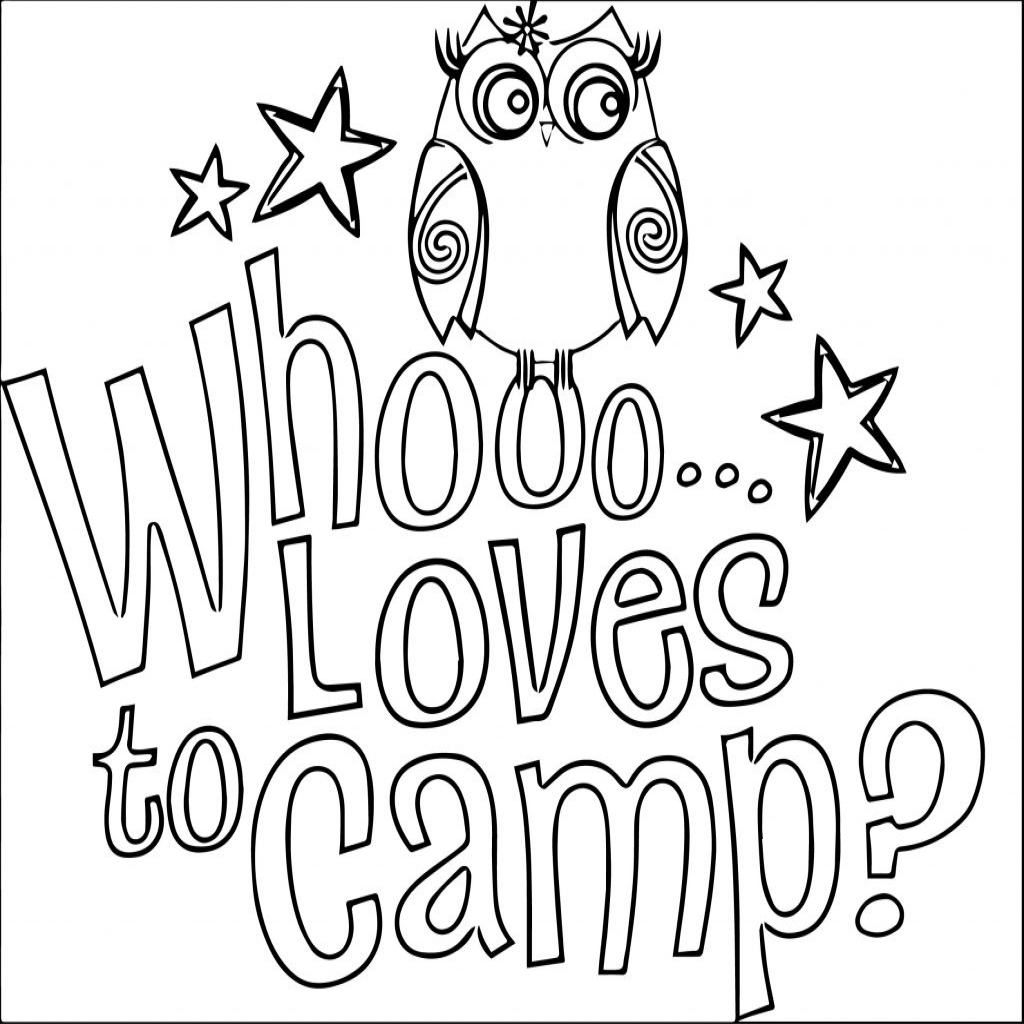 Summer preschool coloring pages collection free coloring for Camping coloring pages for preschoolers