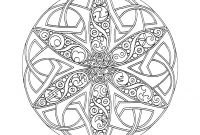 Celtic Mandalas Coloring Pages - Celtic Artistic Mandala Coloring Pages Cross Design Free Printable Printable