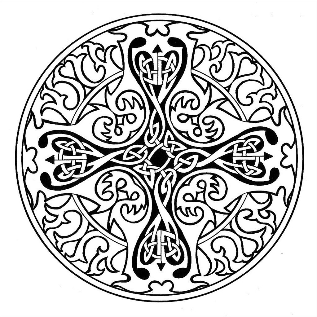 Celtic Mandala Coloring Page Free Printable Pages Printable – Free ...