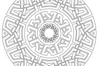 Celtic Mandalas Coloring Pages - Celtic Mandala Coloring Page Relaxation Pinterest Printable