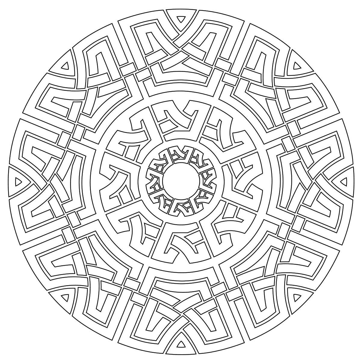 Celtic Mandala Coloring Page Relaxation Pinterest Printable – Free ...