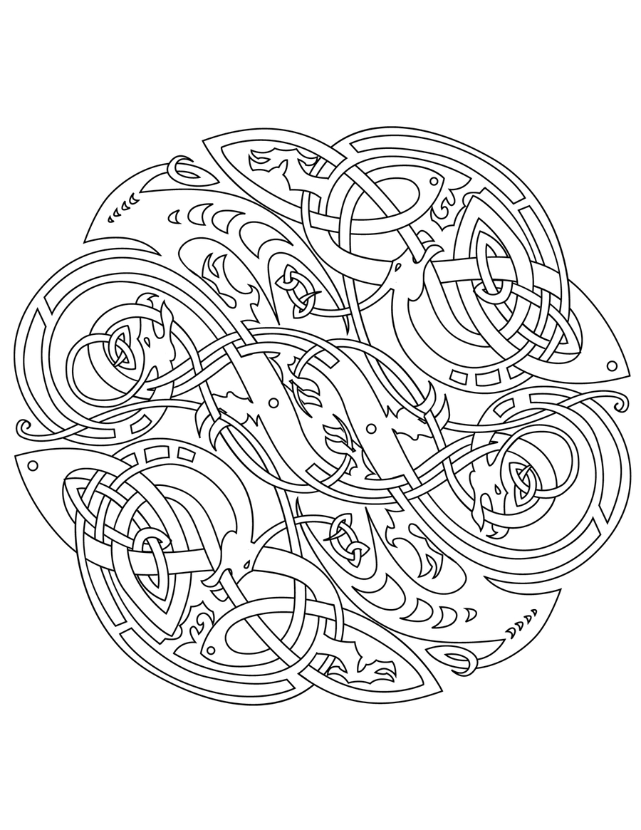 Celtic Mandalas Coloring Pages to Print 12f - Free For Children