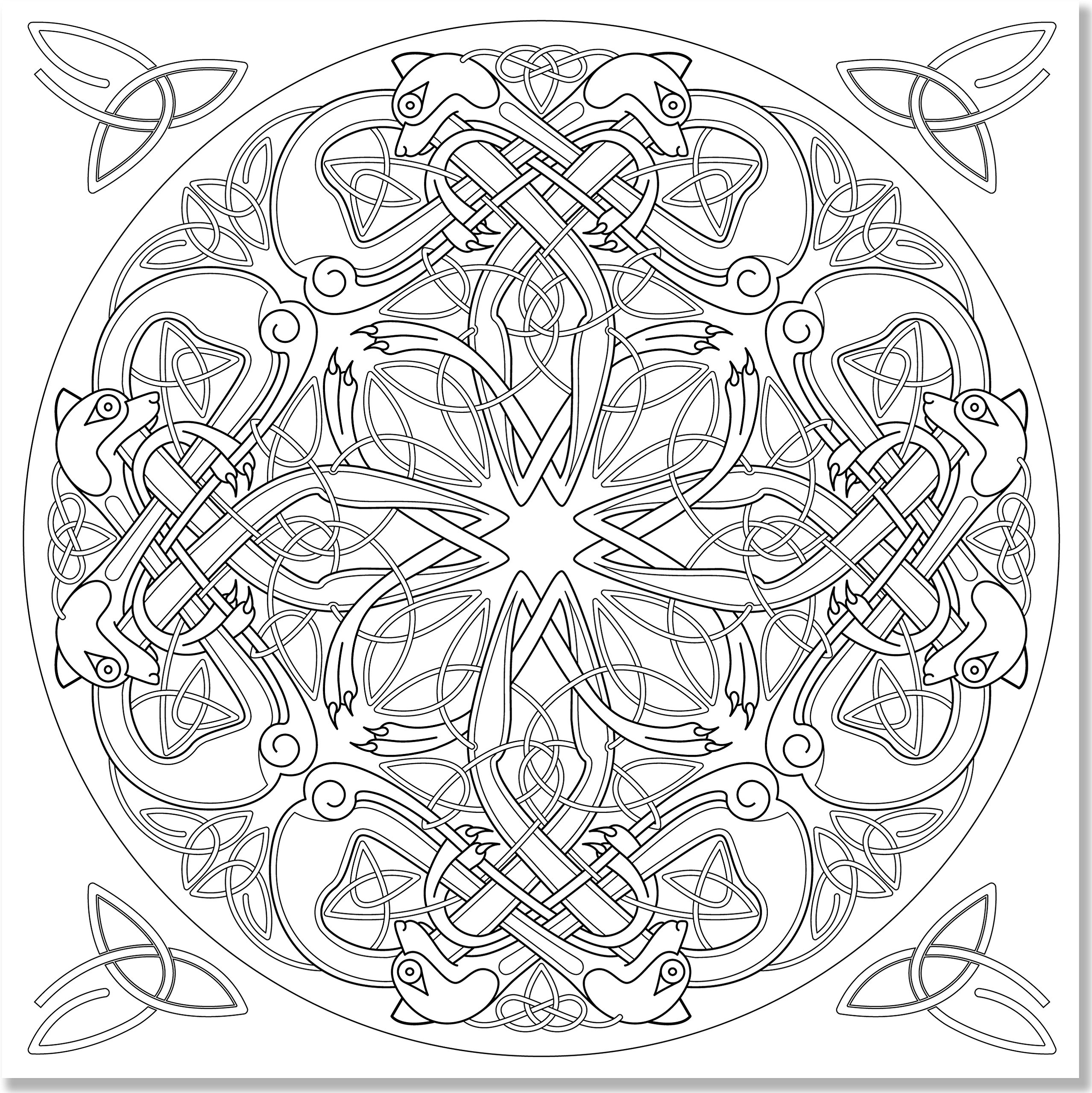 Celtic Mandala Coloring Pages Getcoloringpages Download Free