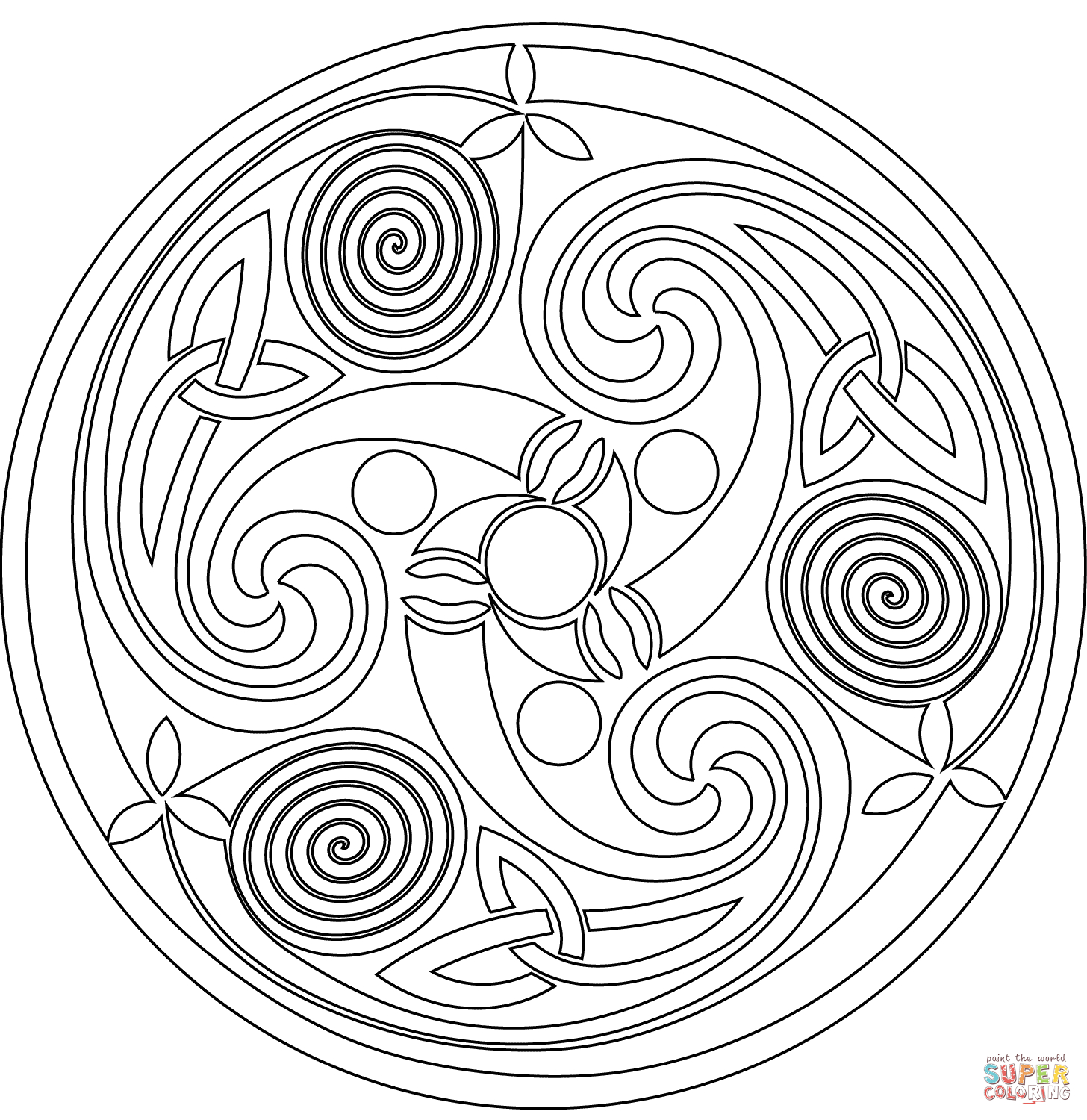 Celtic Mandalas Coloring Pages to Print 20p - Free For Children