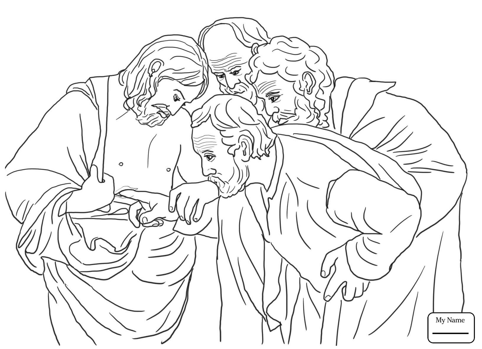 Coloring Pages Of Jesus Christ