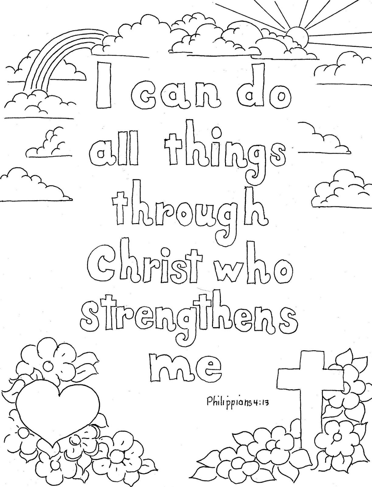 Coloring Pages for Kids by Mr Adron Philippians 4 13 Print and Printable Of Printable Puter Coloring Pages Collection