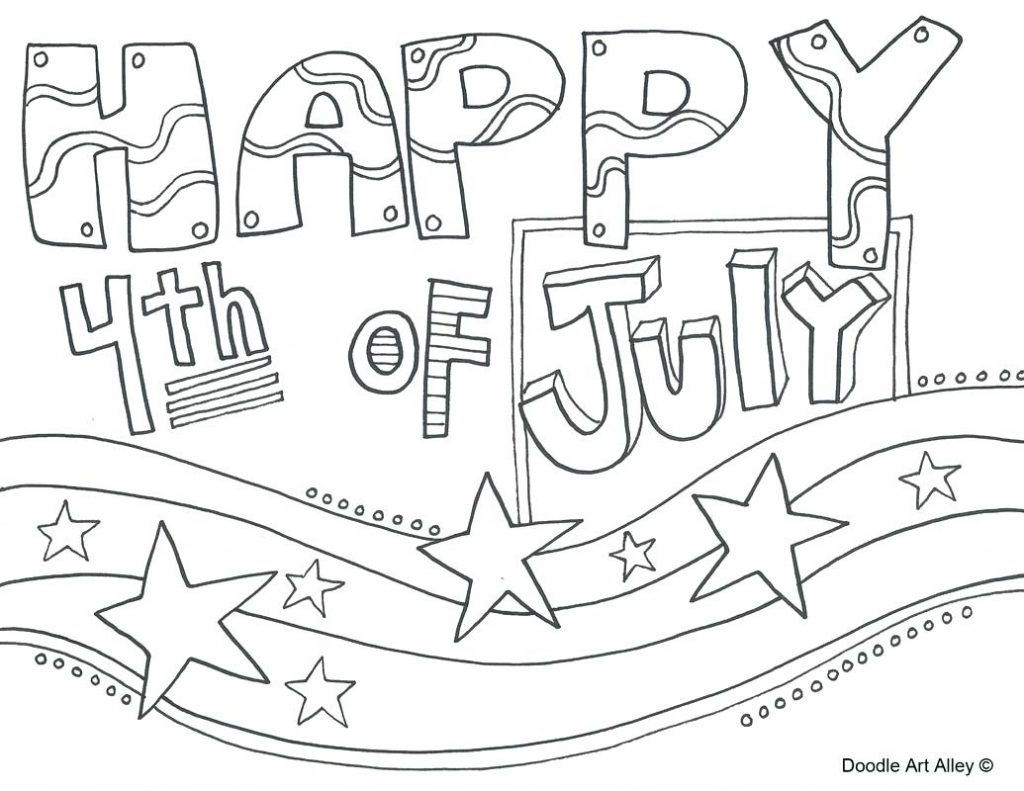 Coloring Pages Fourth July Coloring Pages Happy Free Printable to ...