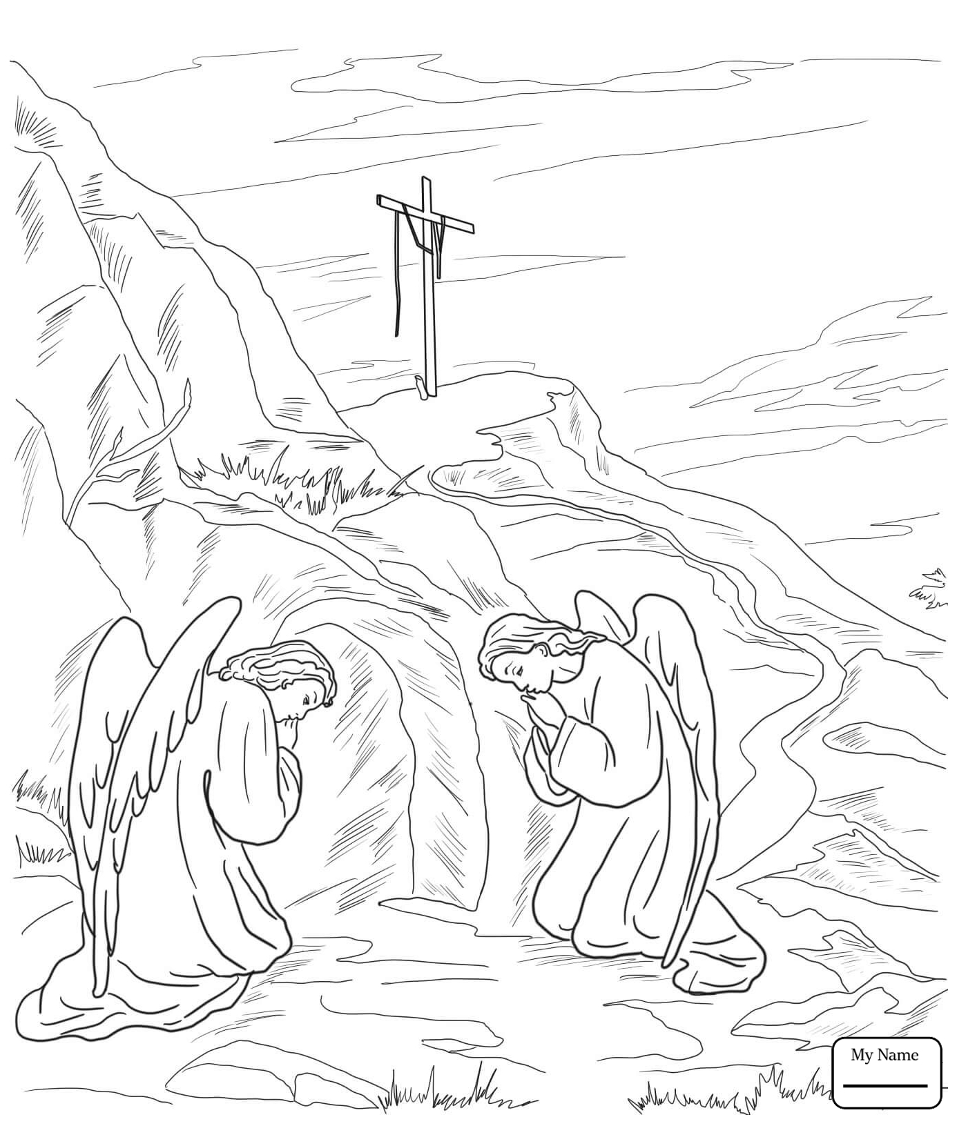 Coloring Pages Of Jesus Christ Resurrection Gallery | Free Coloring ...