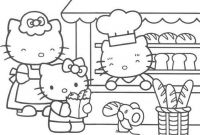 Shopping Coloring Pages - Coloring Pages Of Hello Kitty Shopping Printable