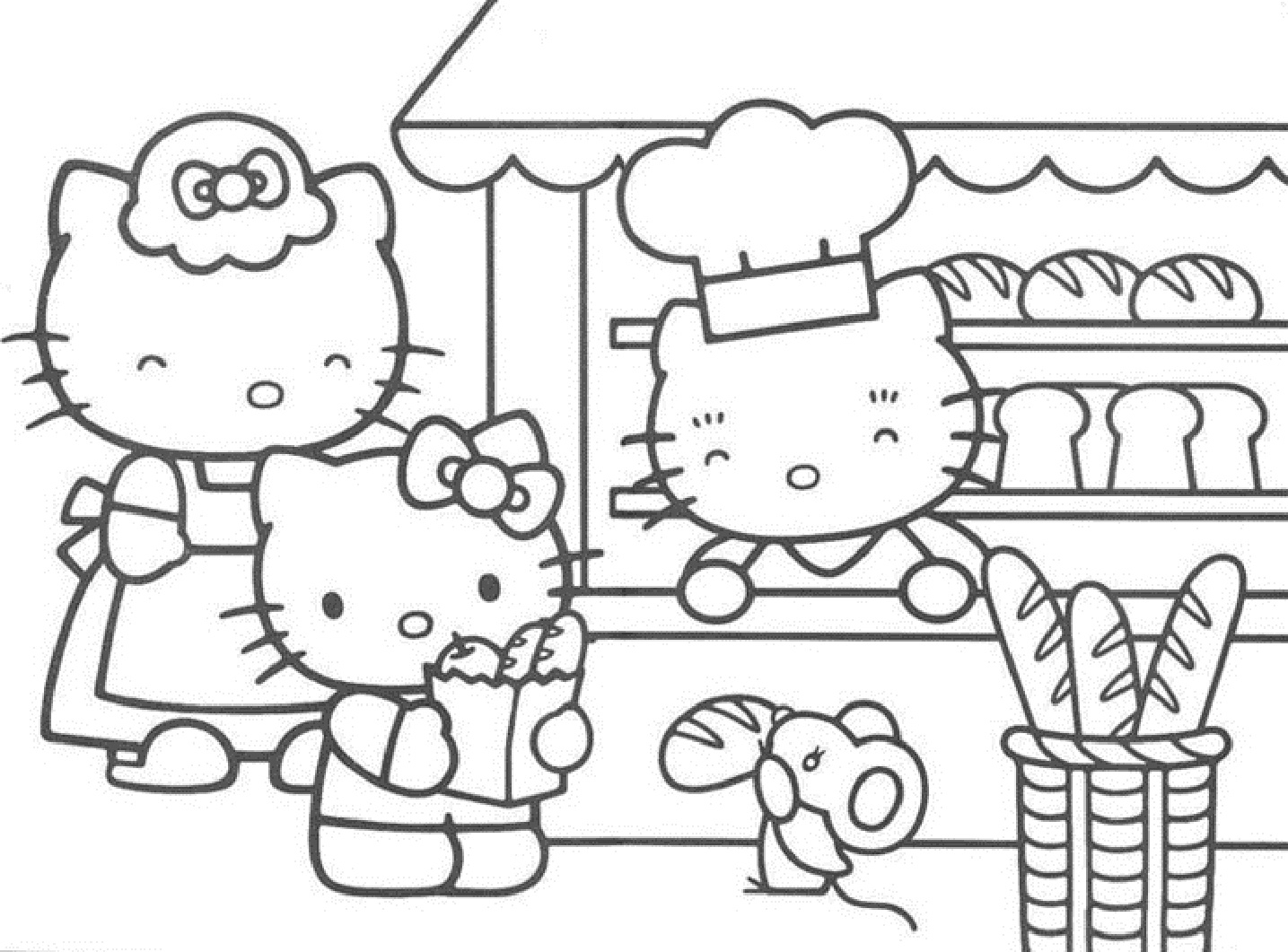 Coloring Pages Of Hello Kitty Shopping Printable Of Christmas Shopping Coloring Page Download
