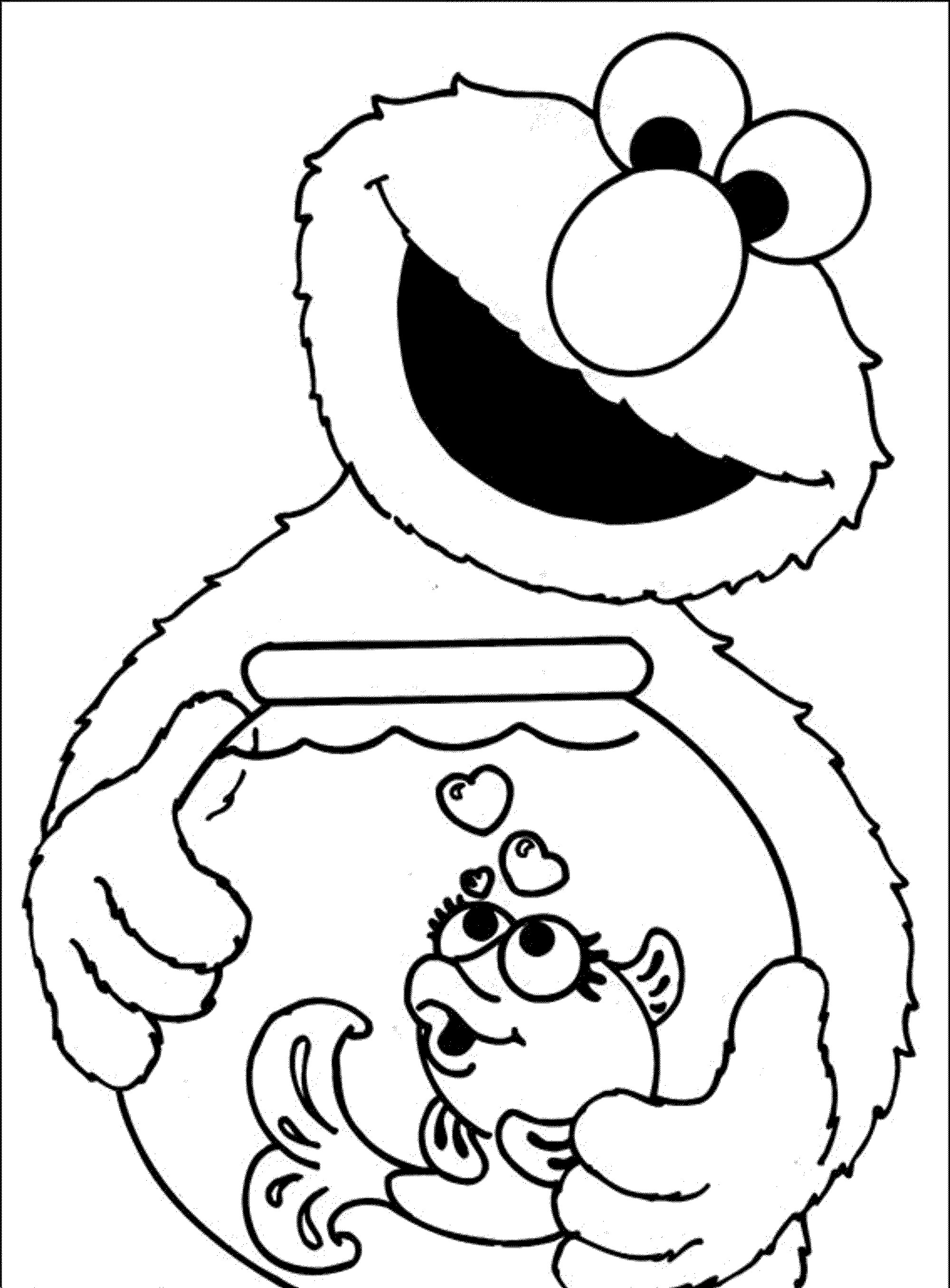 Free Elmo Printable Coloring Pages Download 2o - Free For kids