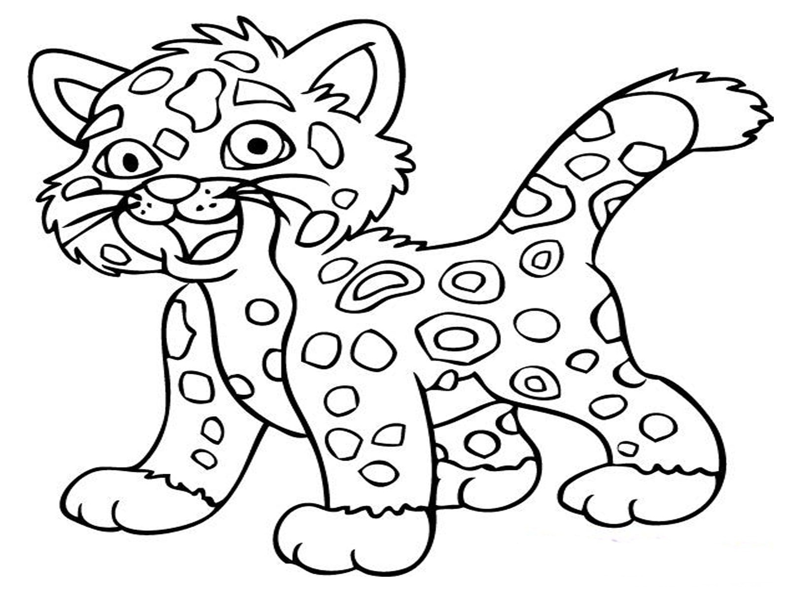 Easy Baby Animal Coloring Pages Collection Collection – Free ...