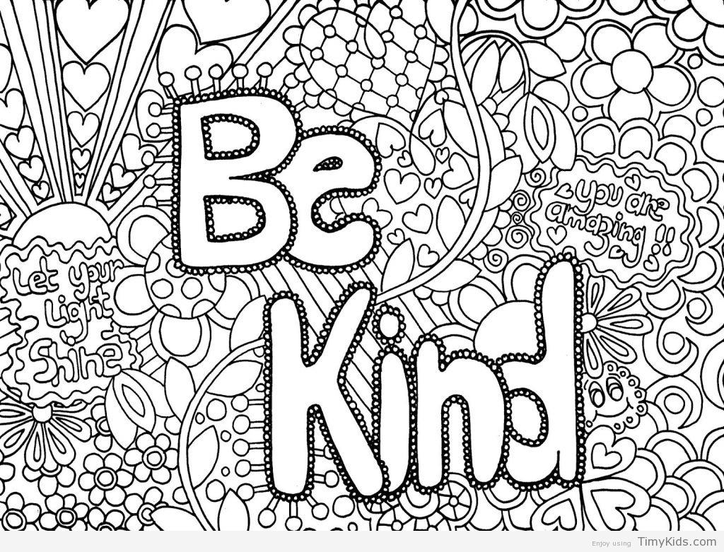 Printable Coloring Pages for Tweens Printable 14s - Free For kids