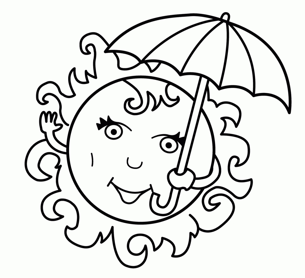 Summer Preschool Coloring Pages Collection | Free Coloring Sheets