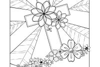 Praise and Worship Coloring Pages - Free Easter Adult Coloring Page by Faith Skrdla Resurrection Cross 1 Collection