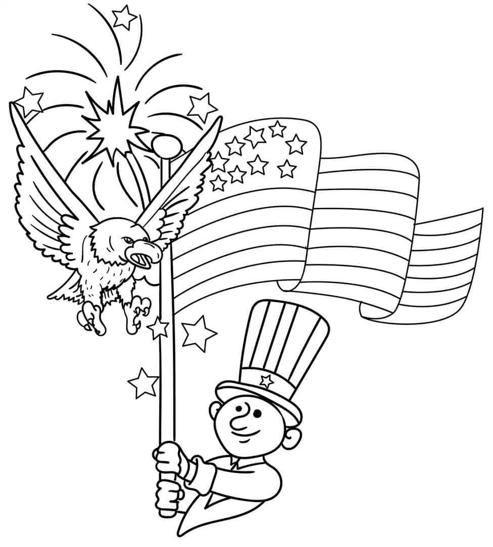 independence day coloring pages to print - coloring pages 4th of july printable printable free