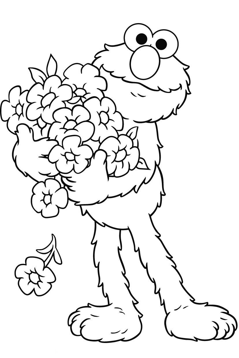 Free Elmo Printable Coloring Pages - Free Printable Elmo Coloring Pages for Kids Collection
