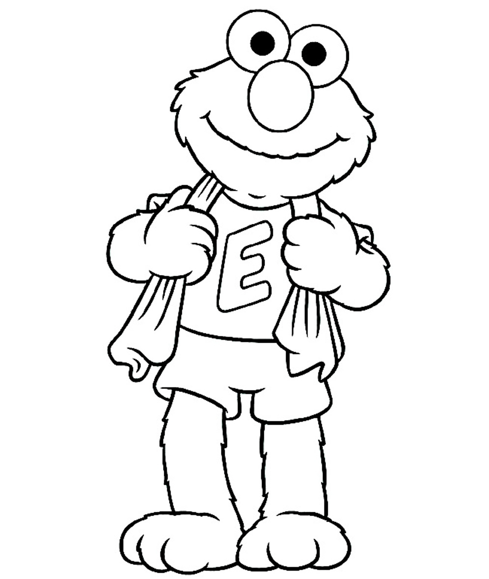 Free Printable Elmo Coloring Pages Print S World Collection Of Christmas