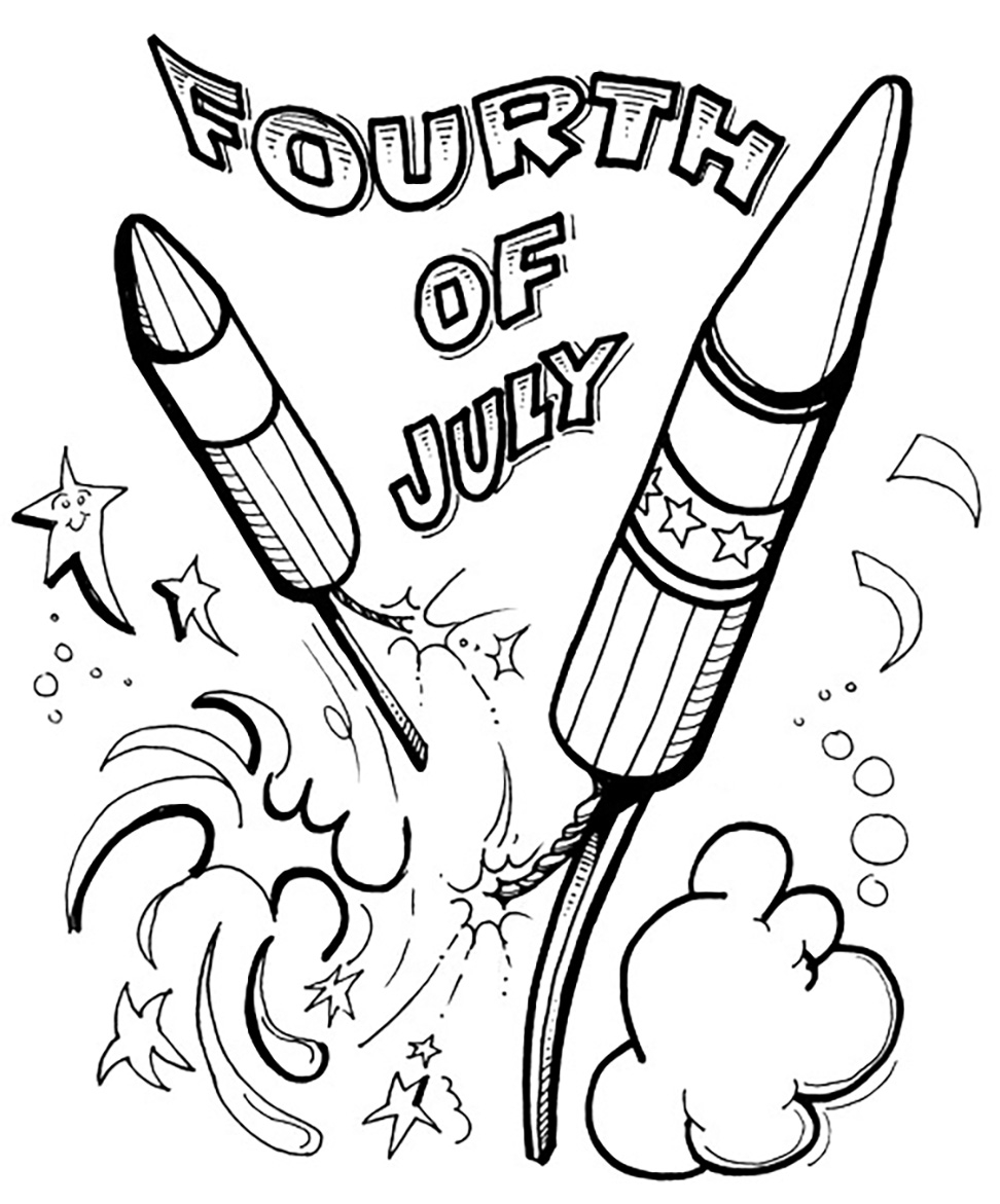 Free Printable Fireworks Coloring Pages Fun Kids Safety 4th July New ...