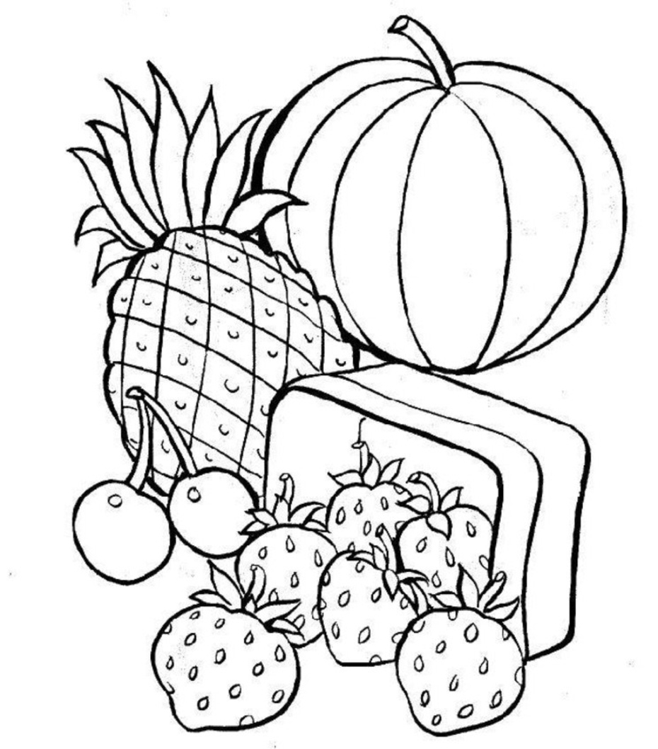 Free Printable Food Coloring Pages for Kids Printable – Free ...