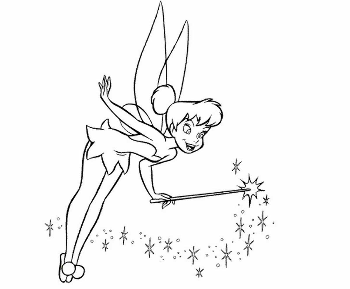 Free Printable Tinkerbell Coloring Pages For Kids Collection