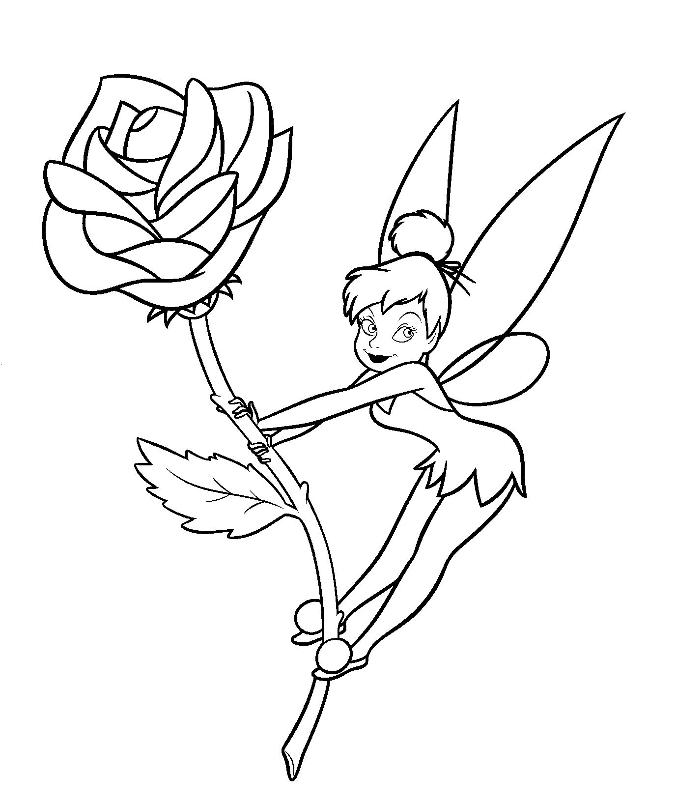 Free Printable Tinkerbell Coloring Pages For Kids Within Color Page