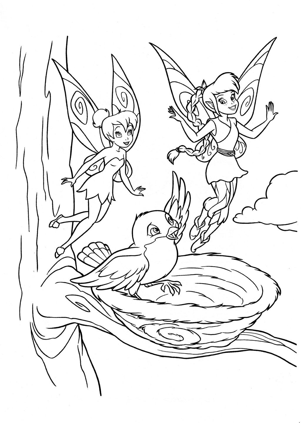 Free Printable Tinkerbell Coloring Pages Kids Tinker Bell Is A Very To Print
