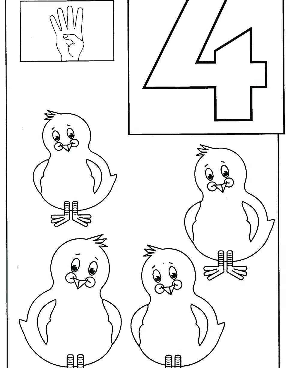 Preschool Number Coloring Pages Collection | Free Coloring Sheets