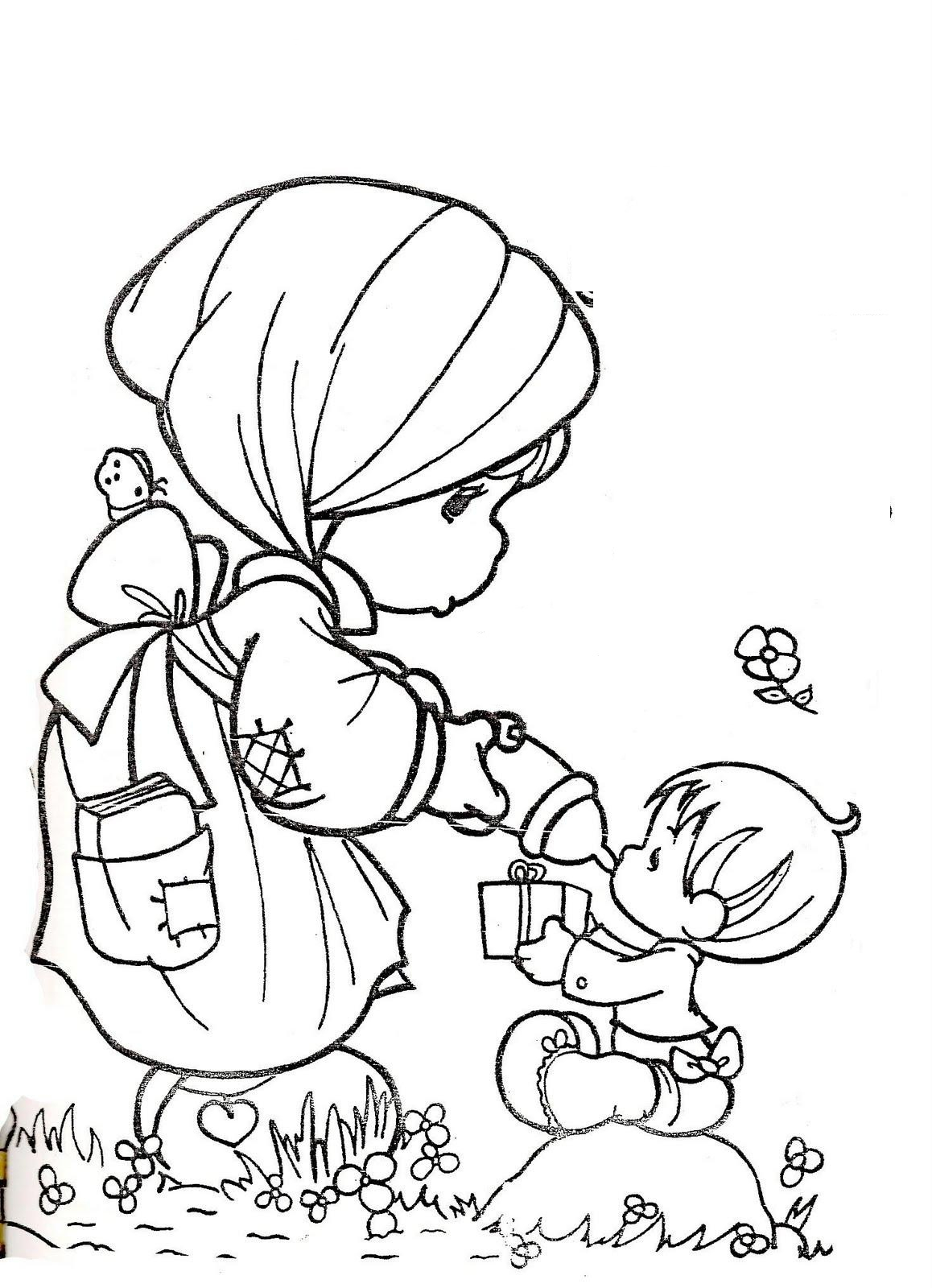 Precious Moments Coloring Book Pages To Print