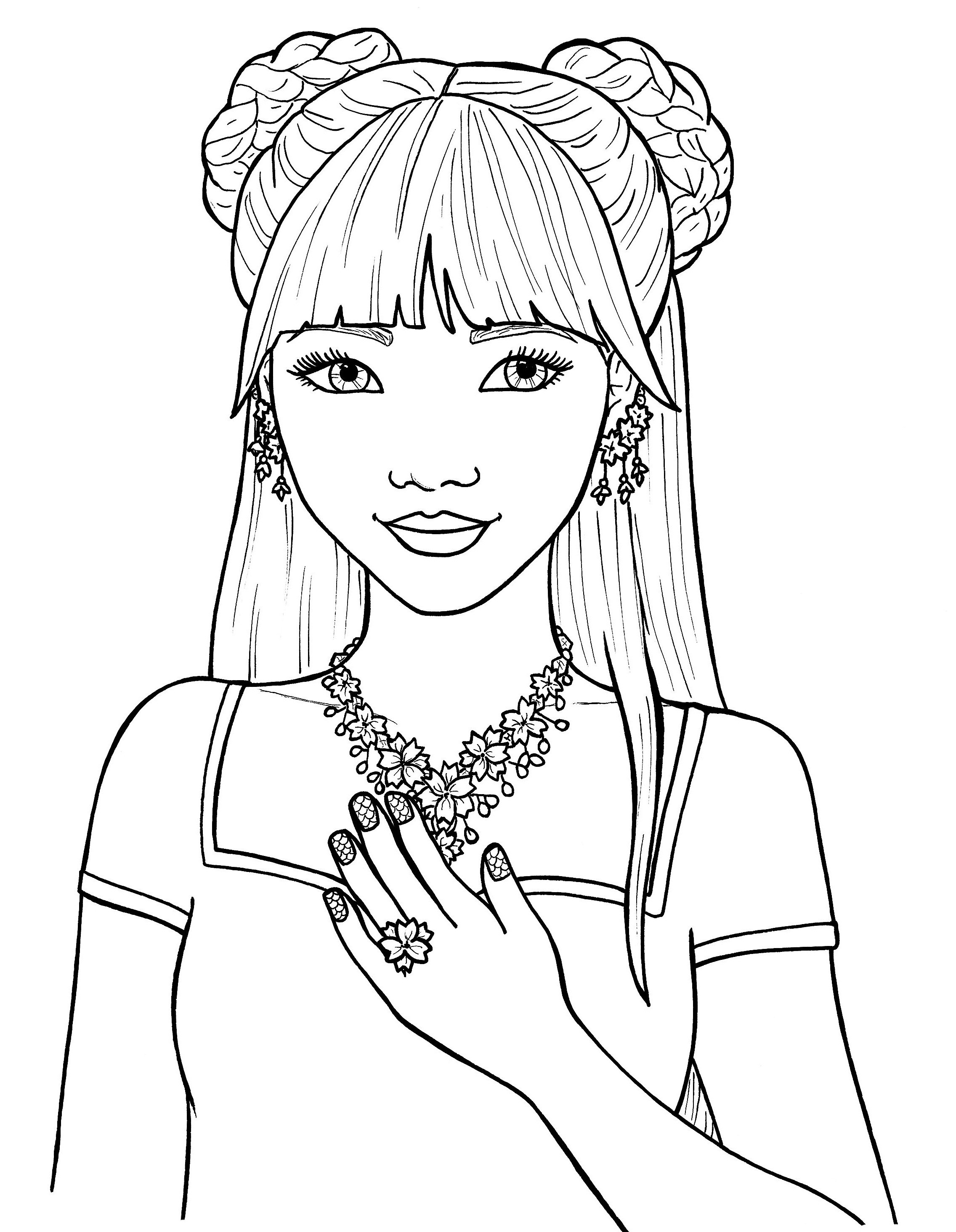 Girl Hair Coloring Pages Copy Coloring Pages for Tween Girls Gallery ...