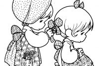 Precious Moments Coloring Book Pages to Print - Go to School Moments Coloring Pages Precious Free Printable Sisters Collection